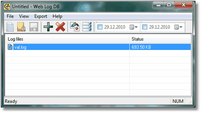 Web Log DB Screenshot 1