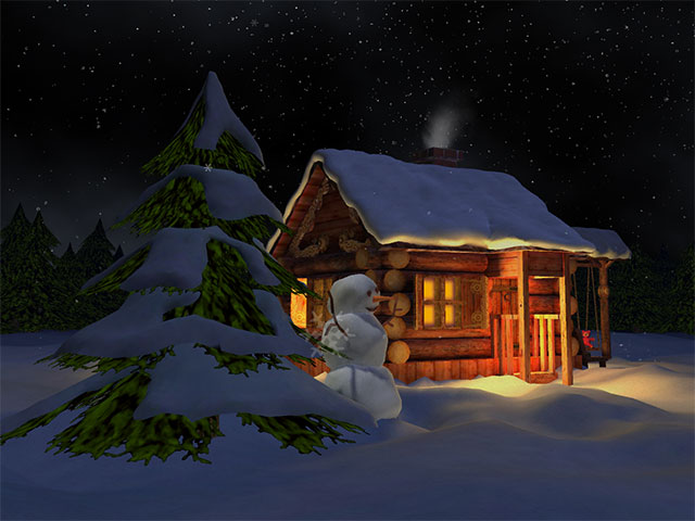 3D Mild Winter Screensaver Screenshot 1