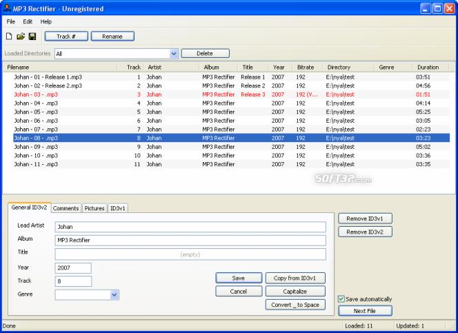 MP3 Rectifier Screenshot 1
