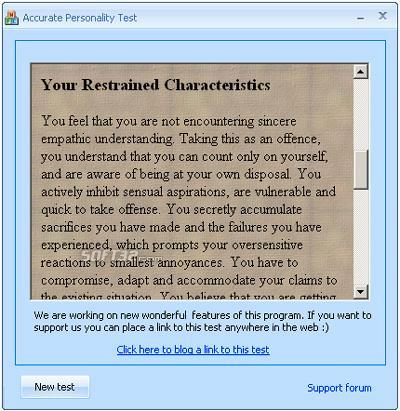 Personality tests package Screenshot 5