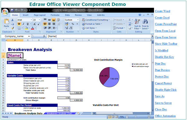 Edraw Office Viewer Component Screenshot 3