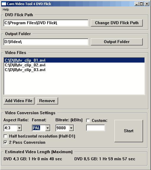 Cam Video Tool 4 DVD Flick Screenshot