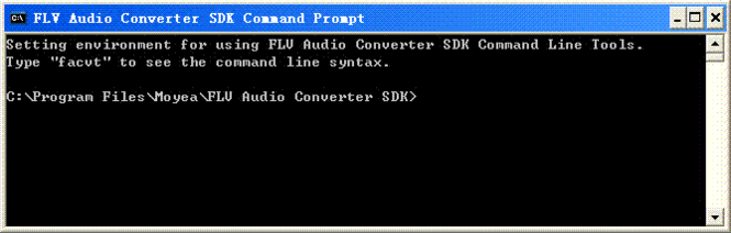 Moyea FLV Audio Converter SDK Screenshot
