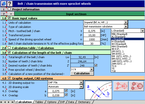 MITCalc - Multi pulley calculation Screenshot