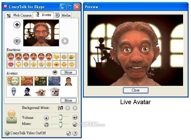 Reallusion CrazyTalk for Skype Media Edition Screenshot 3