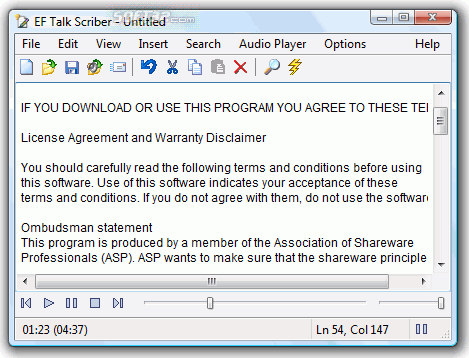 EF Talk Scriber Screenshot 3