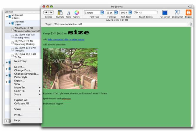MacJournal Screenshot