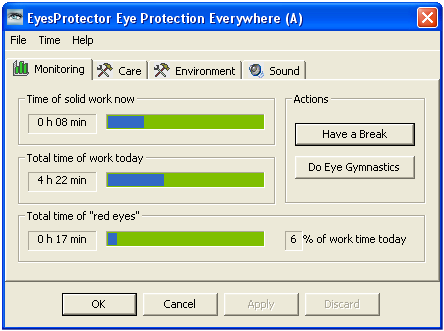 EyesProtector Screenshot