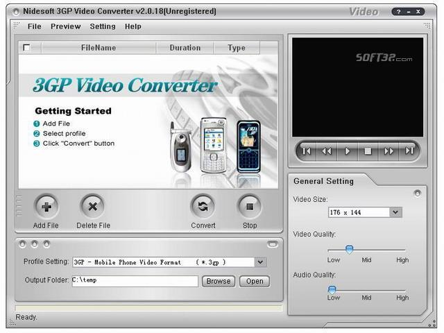 Nidesoft 3GP Video Converter Screenshot 2
