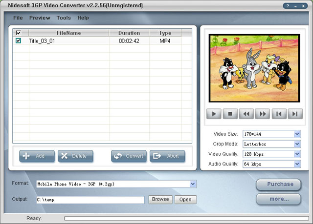 Nidesoft 3GP Video Converter Screenshot 3