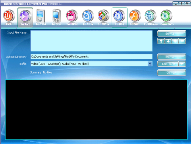 Intertech 3GP Converter Screenshot