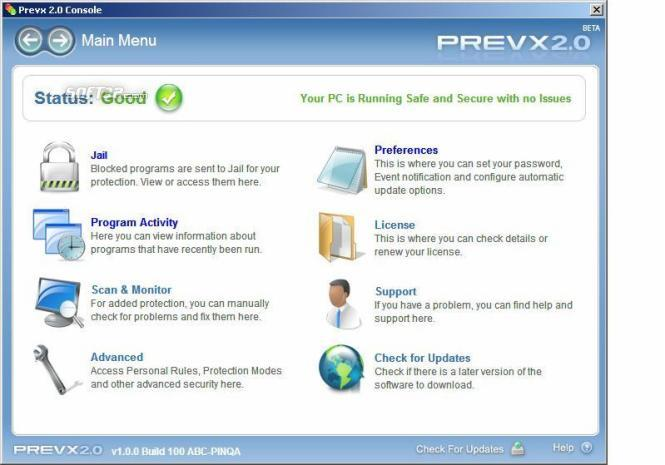 Prevx2.0 Screenshot
