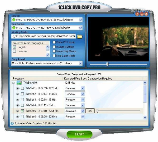 1CLICK DVD COPY PRO Screenshot 3