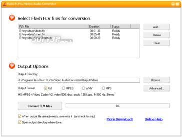 Flash FLV to Video/Audio Converter Screenshot 3