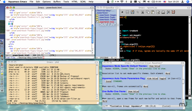 Aquamacs Emacs Screenshot