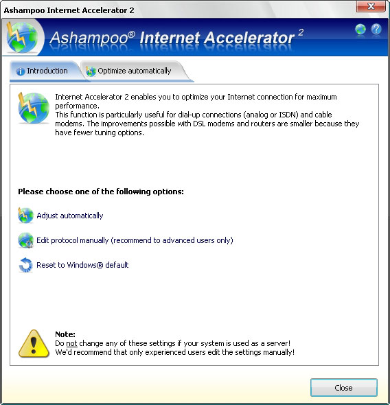 Ashampoo Internet Accelerator 3 Screenshot 5
