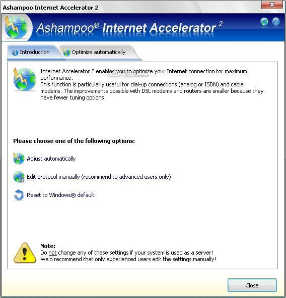 Ashampoo Internet Accelerator 3 Screenshot 3