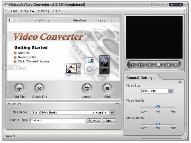 Nidesoft Video Converter Screenshot 2