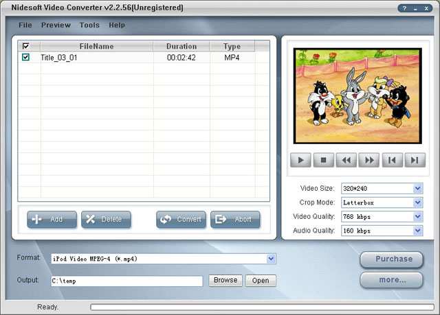 Nidesoft Video Converter Screenshot 1