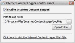 Free Internet Content Logger Screenshot