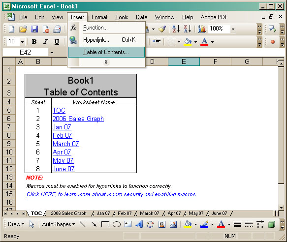 Workbook TOC Screenshot