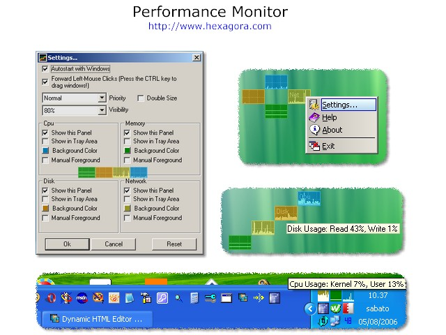 Performance Monitor Screenshot