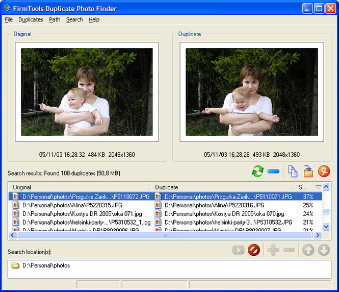 FirmTools Duplicate Photo Finder Screenshot 1