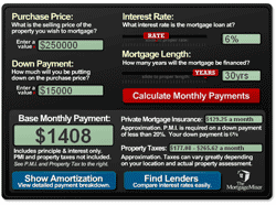 Misers Mortgage Calculator Screenshot