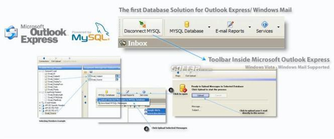 MySQL for Outlook Express Screenshot