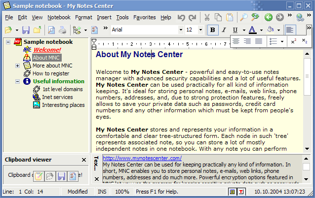 My Notes Center Screenshot 1