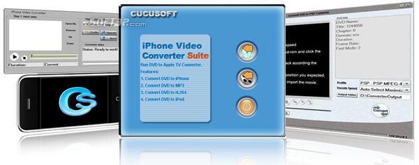 Cucusoft iPhone Video Converter + DVD to iPhone Converter Suite Pro Screenshot 2