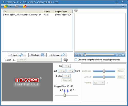 FLV to Video Converter Lite Screenshot