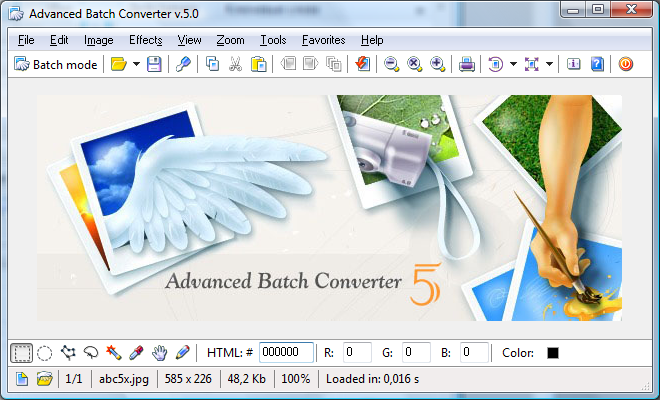 Advanced Batch Converter Screenshot 1