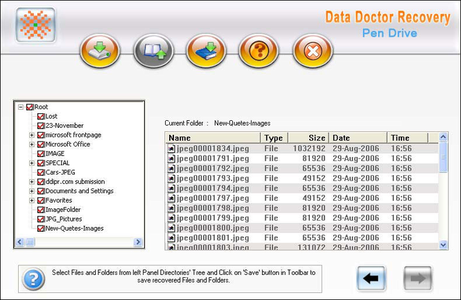 USB Drive Recovery Software Screenshot