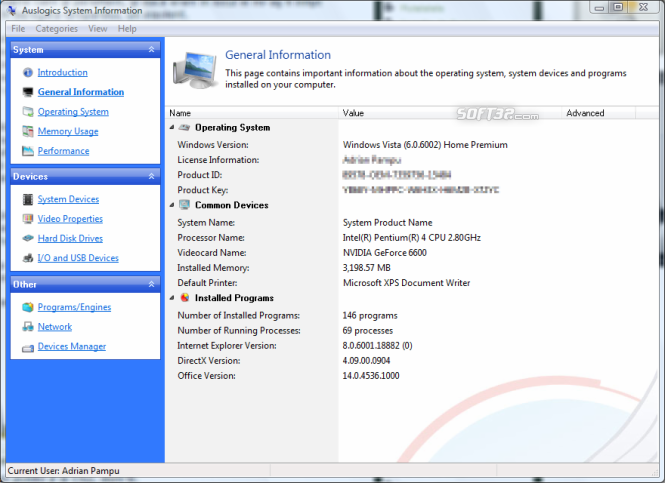 Auslogics System Information Screenshot 4