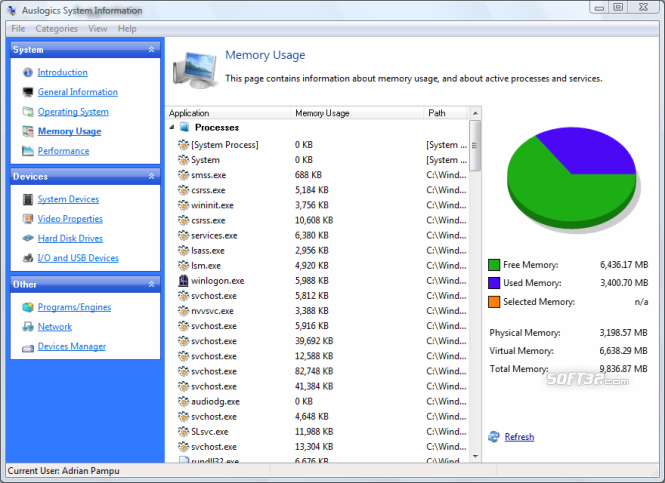 Auslogics System Information Screenshot 5