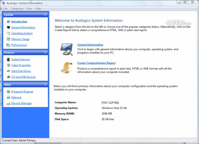 Auslogics System Information Screenshot 3