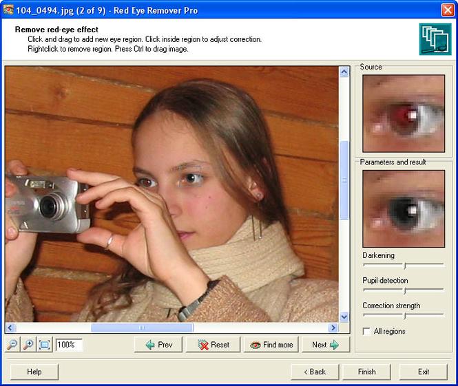 Red Eye Remover Pro Screenshot