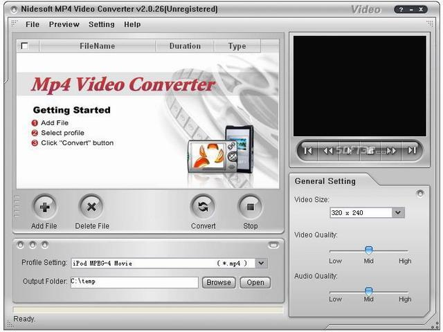 Nidesoft MP4 Video Converter Screenshot 3