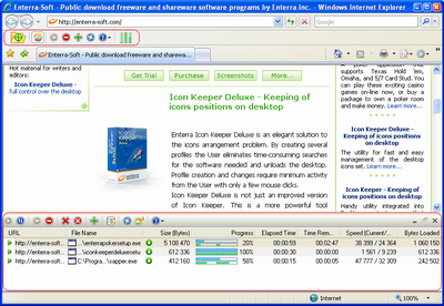 Enterra Download Manager Screenshot