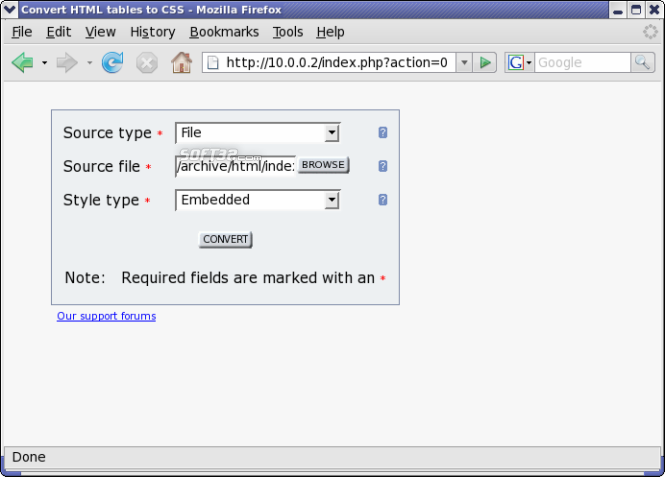 Table2CSS Converter Screenshot 3