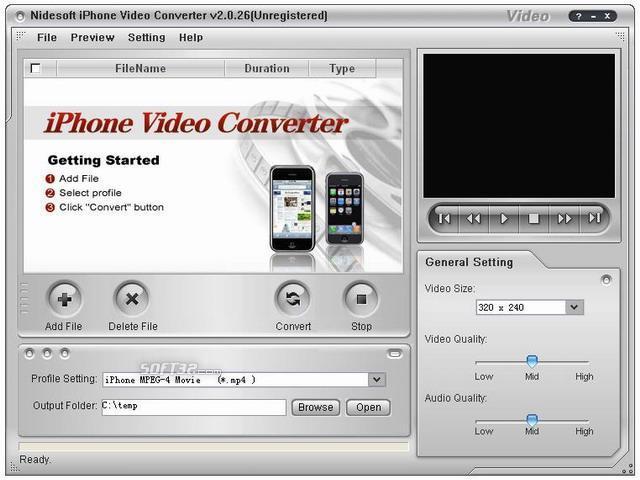 Nidesoft iPhone Video Converter Screenshot 3