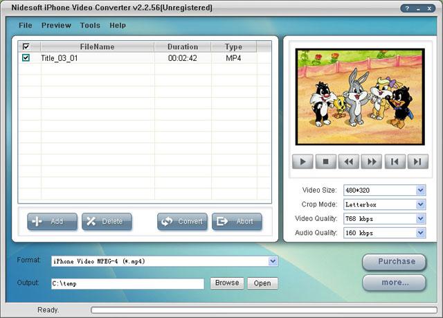 Nidesoft iPhone Video Converter Screenshot 1