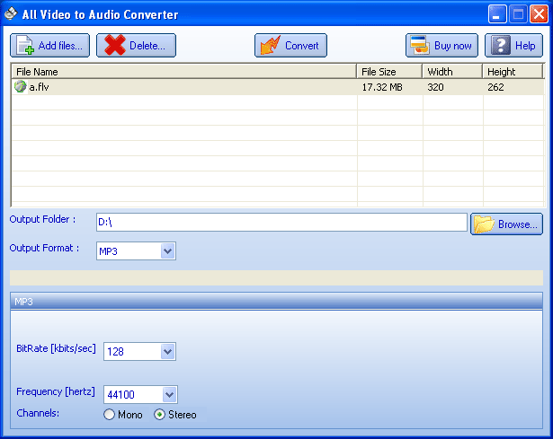 All Video to Audio Converter Screenshot 1