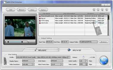Alldj iPod Video Converter Screenshot