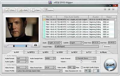 Alldj DVD Ripper Screenshot