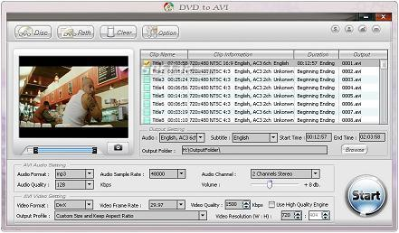 Alldj DVD To AVI converter Screenshot 3