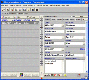 Coach Organizer Deluxe Screenshot