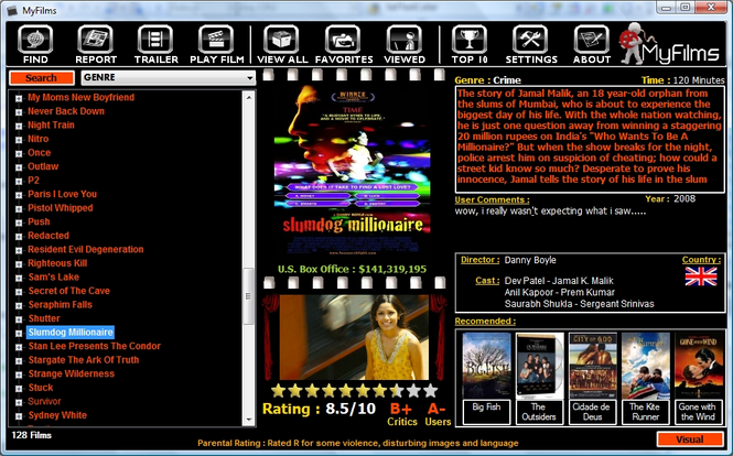 MyFilms Screenshot 1