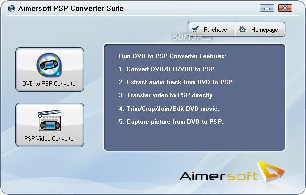 Aimersoft PSP Converter Suite Screenshot